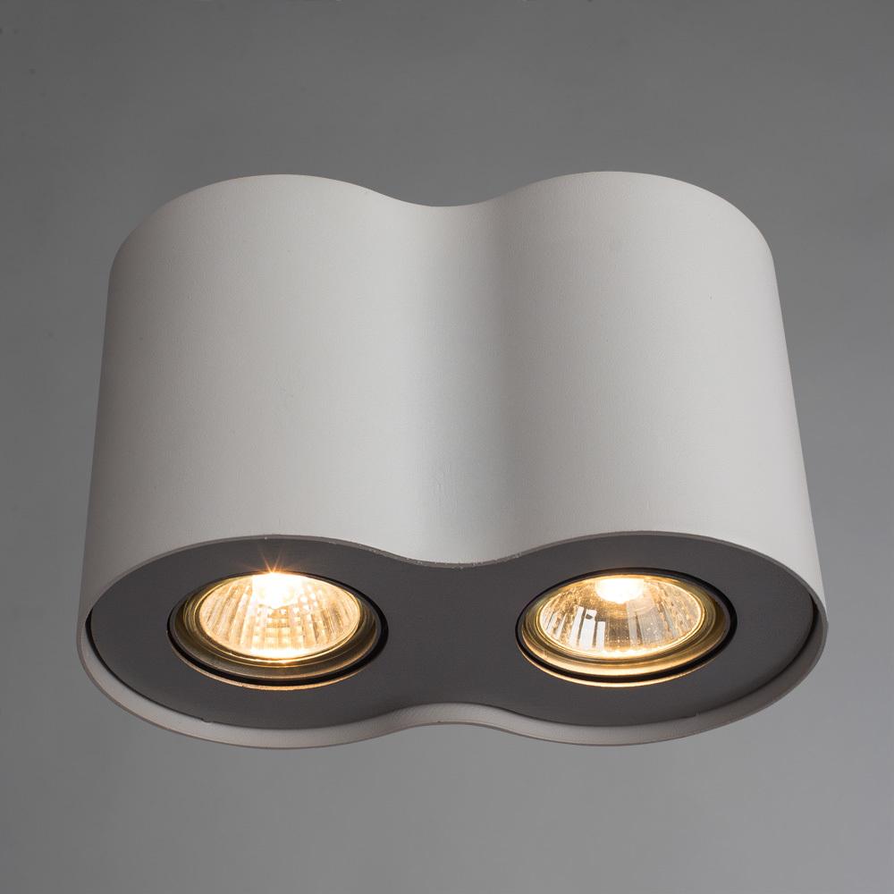 Потолочный светильник Arte Lamp Instyle Falcon A5633PL-2WH, 2xGU10x50W, белый, металл - фото 2