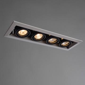 Встраиваемый светильник Arte Lamp Instyle Cardani Piccolo A5941PL-4WH, 4xGU10x50W, белый, черный, металл
