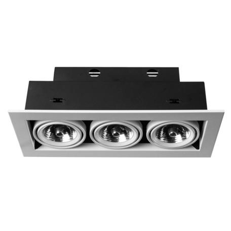 Встраиваемый светильник Arte Lamp Instyle Cardani Medio A5930PL-3WH, 3xG53AR111x50W, черный, белый, металл