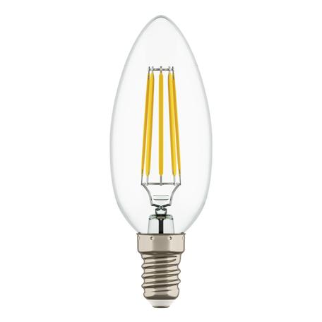 Филаментная светодиодная лампа Lightstar LED 940564 свеча E14 4W, 4000K (дневной) 220V, гарантия 1 год