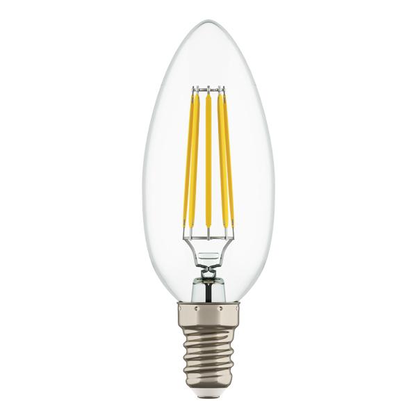 Филаментная светодиодная лампа Lightstar LED 940564 свеча E14 4W, 4000K (дневной) 220V, гарантия 1 год - фото 1