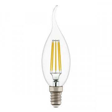 Филаментная светодиодная лампа Lightstar LED 940662 свеча на ветру E14 4W, 3000K (теплый) 220V, гарантия 1 год