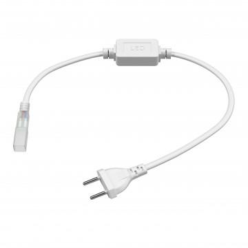 Кабель питания с вилкой для светодиодной ленты Lightstar LED Strip Accessories 408900, белый, пластик