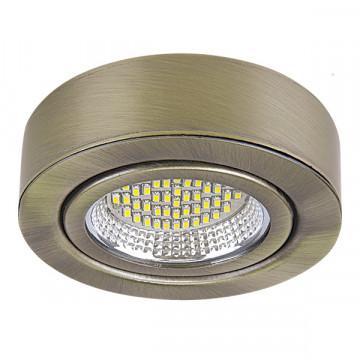 Мебельный светодиодный светильник для встраиваемого или накладного монтажа Lightstar MobiLED 003331, бронза, металл, стекло