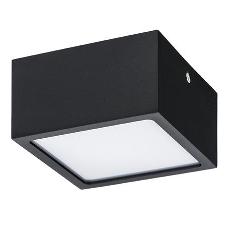 Потолочный светодиодный светильник Lightstar Zolla 213927, IP44, LED 10W 4000K 780lm, черный, черно-белый, металл