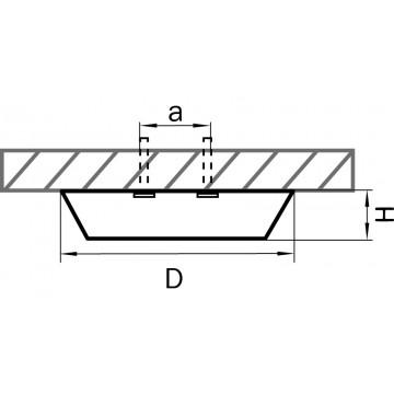 Схема с размерами Lightstar 214774