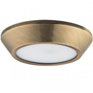 Потолочный светодиодный светильник Lightstar Urbano 214912, IP65, LED 10W 3000K 1175lm, бронза, металл с пластиком