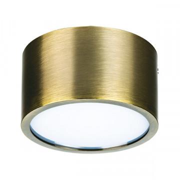 Потолочный светодиодный светильник Lightstar Zolla 213911, IP44, LED 10W 4000K 780lm, бронза, металл