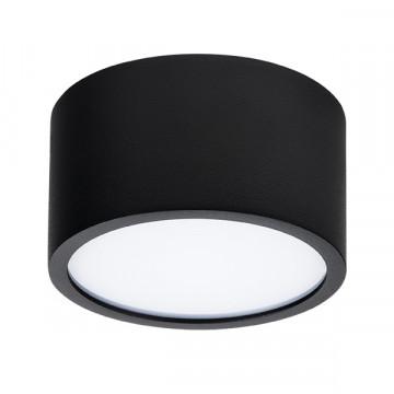 Потолочный светодиодный светильник Lightstar Zolla 213917, IP44, LED 10W 4000K 780lm, черный, черно-белый, металл