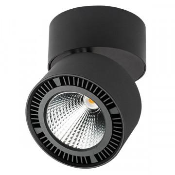 Потолочный светодиодный светильник Lightstar Forte Muro 214837, LED 26W 4000K 1950lm, черный, металл