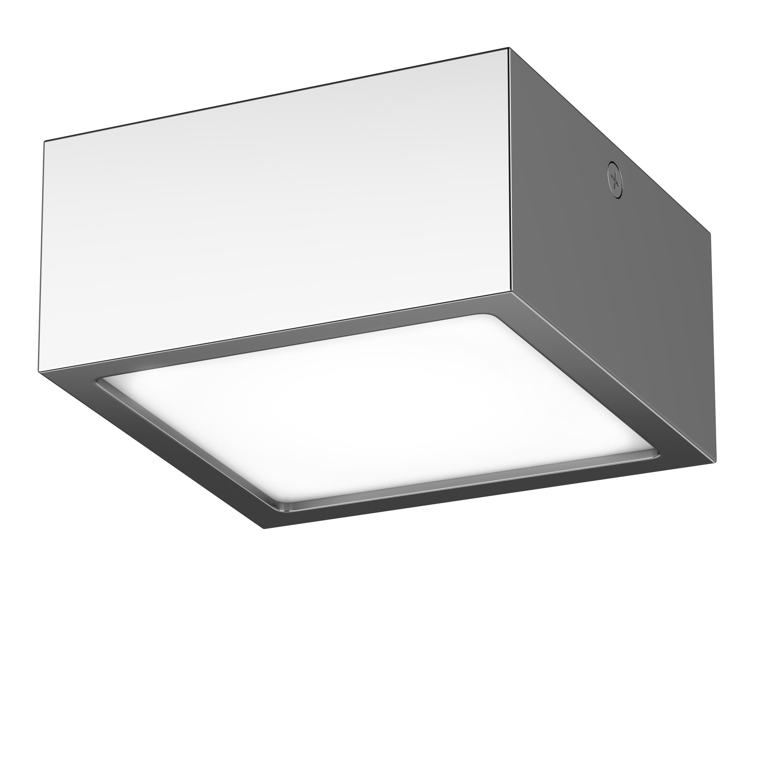Потолочный светодиодный светильник Lightstar Zolla 213924, IP44, LED 10W 4000K 780lm, хром, металл - фото 1