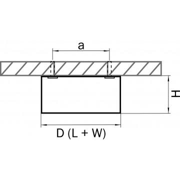 Схема с размерами Lightstar 213924