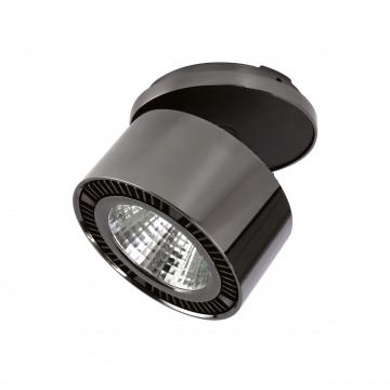 Встраиваемый светодиодный светильник с регулировкой направления света Lightstar Forte Inca 214828, LED 26W 4000K 1950lm, черный хром, металл