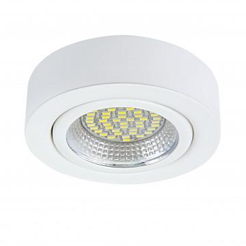 Мебельный светодиодный светильник для встраиваемого или накладного монтажа Lightstar MobiLED 003330, LED 3,5W 4000K 270lm, белый, металл