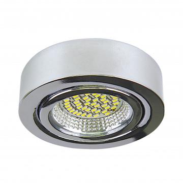 Мебельный светодиодный светильник для встраиваемого или накладного монтажа Lightstar MobiLED 003334, LED 3,5W 4000K 270lm, хром, металл