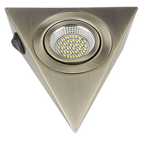 Мебельный светодиодный светильник Lightstar MobiLED Ango 003341, LED 3,5W 4000K 270lm, бронза, металл