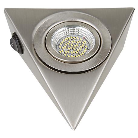 Мебельный светодиодный светильник Lightstar MobiLED Ango 003345, LED 3,5W 4000K 270lm, никель, металл