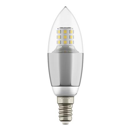 Светодиодная лампа Lightstar LED 940542 свеча E14 7W, 3000K (теплый) 220V, гарантия 1 год