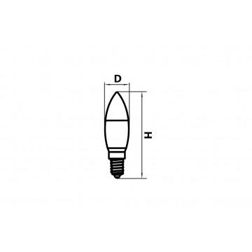 Схема с размерами Lightstar 940542