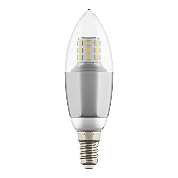 Светодиодная лампа Lightstar LED 940544 C35 E14 7W 4000K (дневной) 220V, гарантия 1 год - фото 1