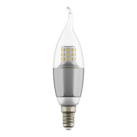 Светодиодная лампа Lightstar LED 940642 свеча на ветру E14 7W, 3000K (теплый) 220V, гарантия 1 год