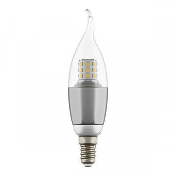Светодиодная лампа Lightstar LED 940644 свеча на ветру E14 7W, 4000K (дневной) 220V, гарантия 1 год