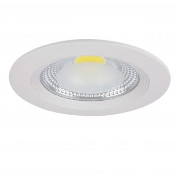 Встраиваемый светодиодный светильник Lightstar Forto 223154, IP44 4000K (дневной), белый, прозрачный, металл, стекло