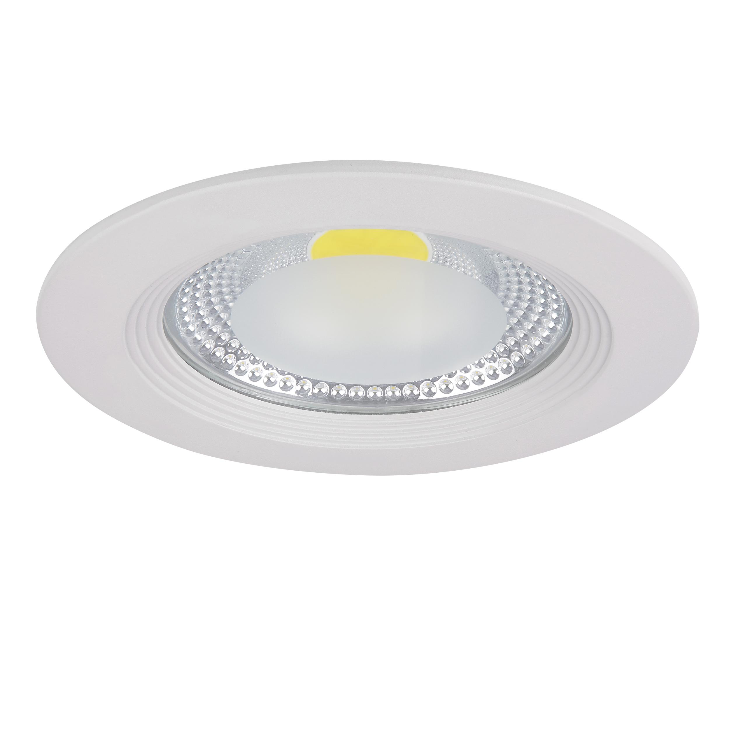 Встраиваемый светодиодный светильник Lightstar Forto 223154, IP44 4000K (дневной), белый, прозрачный, металл, стекло - фото 1