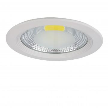 Встраиваемый светодиодный светильник Lightstar Forto 223204, IP44 4000K (дневной), белый, прозрачный, металл, стекло - миниатюра 1