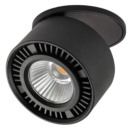 Встраиваемый светодиодный светильник Lightstar Forte Inca 214807, LED 15W 4000K 1400lm, черный, металл