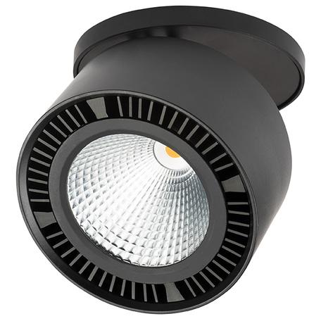 Встраиваемый светодиодный светильник Lightstar Forte Inca 214827, LED 26W 4000K 1950lm, черный, металл