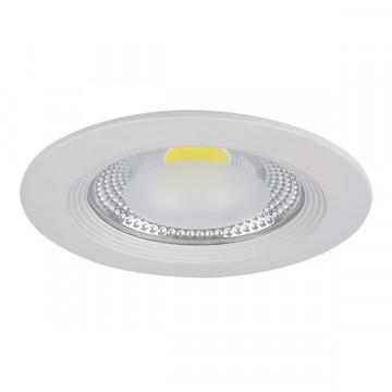 Встраиваемый светодиодный светильник Lightstar Forto 223154, IP44, LED 15W 4000K 1430lm, белый, прозрачный, металл со стеклом
