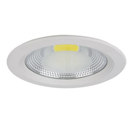 Встраиваемый светодиодный светильник Lightstar Forto 223204, IP44, LED 20W 4000K 1900lm, белый, прозрачный, металл со стеклом