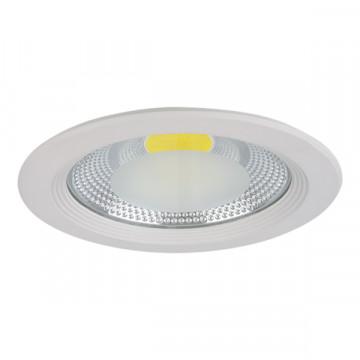 Встраиваемый светодиодный светильник Lightstar Forto 223304, IP44, LED 30W 4000K 2850lm, белый, прозрачный, металл со стеклом