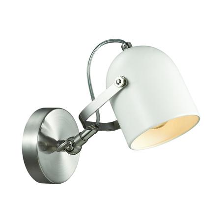 Бра с регулировкой направления света Lumion Moderni Arudis 3592/1W, 1xE27x60W, никель, белый, металл