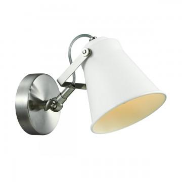 Потолочный светильник с регулировкой направления света Lumion Arudis 3591/1W, 1xE27x60W, никель, белый, металл