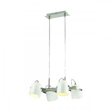 Подвесная люстра с регулировкой направления света Lumion Arudis 3592/4, 4xE27x60W, никель, белый, металл