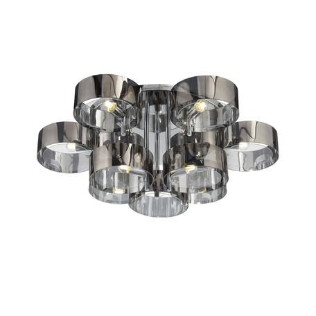 Потолочная люстра Evoluce Foresta SL483.702.09, 9xE27x40W, хром, дымчатый, металл, пластик