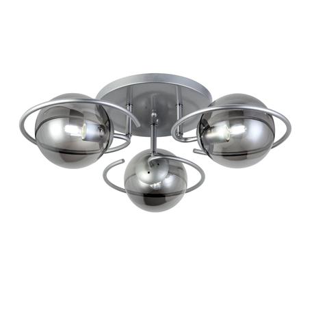 Потолочная люстра Evoluce Galio SL418.172.03, 3xE27x60W, серебро, дымчатый, металл, стекло