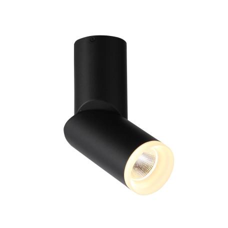 Потолочный светодиодный светильник с регулировкой направления света ST Luce Tortelle ST107.402.10, LED 10W 3000K 780lm, черный, металл