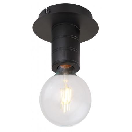 Потолочный светильник Globo Hermine 54030-1D, 1xE27x60W, черный, металл
