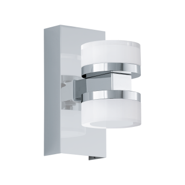 Настенный светодиодный светильник Eglo Romendo 1 96541, IP44, LED 14,4W 3000K 1140lm, хром, белый, металл, пластик