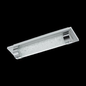 Настенный светодиодный светильник Eglo Tolorico 97054, IP44, LED 8W 4000K 1100lm, хром, прозрачный, металл, стекло