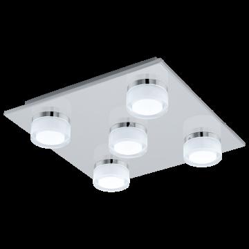 Потолочная светодиодная люстра Eglo Romendo 1 96544, IP44, LED 36W 3000K 2850lm, хром, белый, металл, пластик