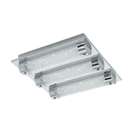 Потолочный светодиодный светильник Eglo Tolorico 97056, IP44, LED 21W 4000K 3000lm, хром, прозрачный, металл, стекло