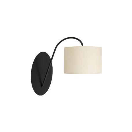 Бра Nowodvorski Alice 3455, 1xE27x60W, черный, белый, металл, текстиль