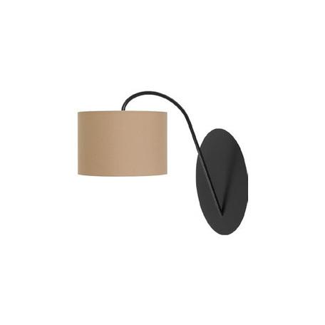 Бра Nowodvorski Alice 3462, 1xE27x60W, черный, коричневый, металл, текстиль