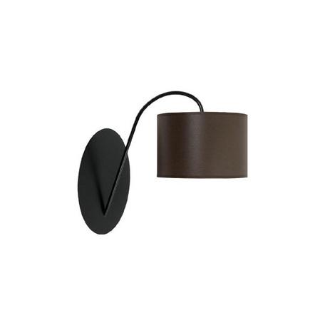 Бра Nowodvorski Alice 3468, 1xE27x60W, черный, коричневый, металл, текстиль