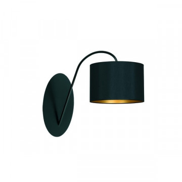 Бра Nowodvorski Alice 4958, 1xE27x60W, черный, золото, металл, текстиль