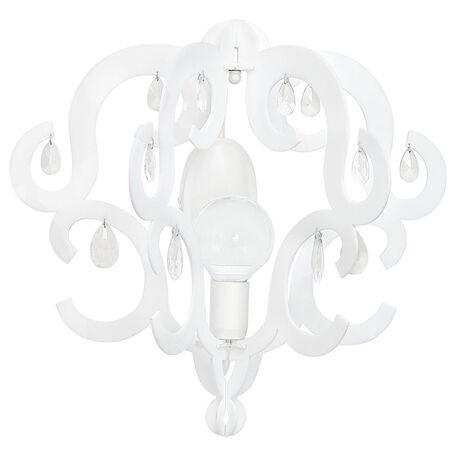 Бра Nowodvorski Katerina 5221, 1xE27x60W, белый, прозрачный, металл, хрусталь